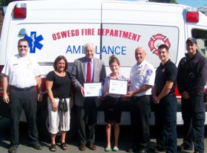 Oswego Fire Dept. supporting United Way