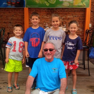 Kids and Robert McGrath, host of the Harborfest Breakfast