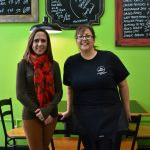 United Way Resource Development Director Lexie Wallace, left, recently met with Denise Damiano, owner of Damiano's Eatery in Mexico, to thank her for participating in the inaugural Giving Thanks, Giving Back fundraiser. On Nov. 21, the day before Thanksgiving, four local businesses each donated a percentage of sales to support the United Way of Greater Oswego County. Damiano's Eatery, Barado's on the Water, Gibby's Irish Pub, and both the Fulton and Oswego Fajita Grill locations collectively raised more than $1,100 to support positive change throughout Oswego County.