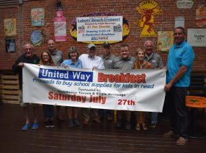 The Stuff-A-Bus Breakfast Committee recently met to finalize plans for this year's breakfast to support the annual campaign to collect school supplies across Oswego County. The Club House Tavern/Spencer's Ali, 126 W. Second Street in Oswego, will once again host the event on Saturday, July 27, from 8 to 11:30 a.m. The breakfast is open to the public with a minimum suggested donation of $6 per adult, with children 10 and under free. All proceeds go to support the Stuff-A-Bus campaign, which last year provided more than 1,800 children across the county with the supplies they needed to be ready to learn on the first day of school.