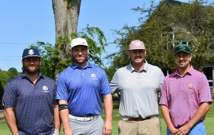 Kevin Dorsey, Ryan Barbeau, Lou Castaldo and Zack Farden brought home first place for the Eagle Beverage team in the afternoon flight of the United Way's 24th annual Golf Tournament held recently at the Oswego Country Club. Nearly 200 golfers took part in the fundraiser to support the United Way's mission of ending hunger, building successful youth, and ensuring wellness across Oswego County.