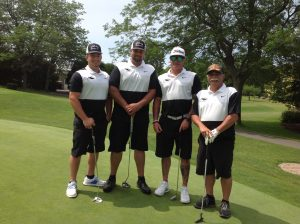 The Oscar Roofing team carded a 58 to capture first place in the morning flight of the United Way of Greater Oswego County's Golf Tournament held recently at the Oswego Country Club. Team members Shane Murray, Anthony Woods, Ted Knopp, and Geno Knopp also won a skin for an eagle on Hole 10. Oscar Roofing was one of 37 teams that supported the United Way's mission by participating in the annual fundraiser.